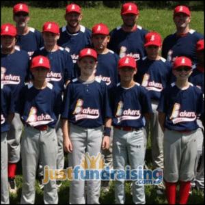 bakers baseball 12u picture in field