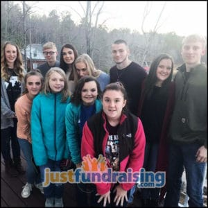nu youth group in the forest