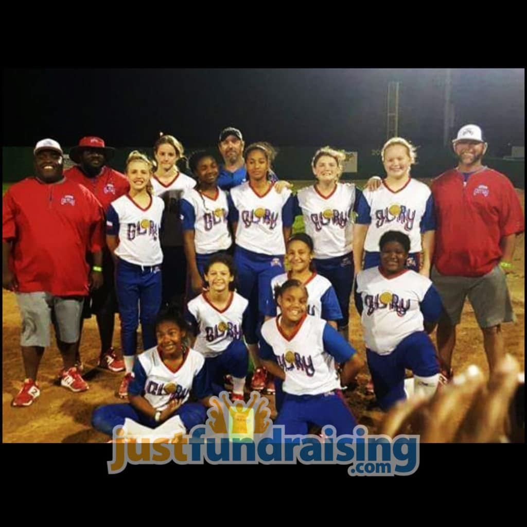 texas glory ctx baseball team in the field
