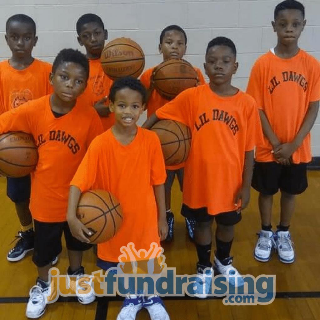children in the basketball court