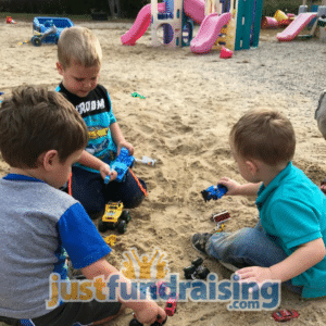 children playing with the sand