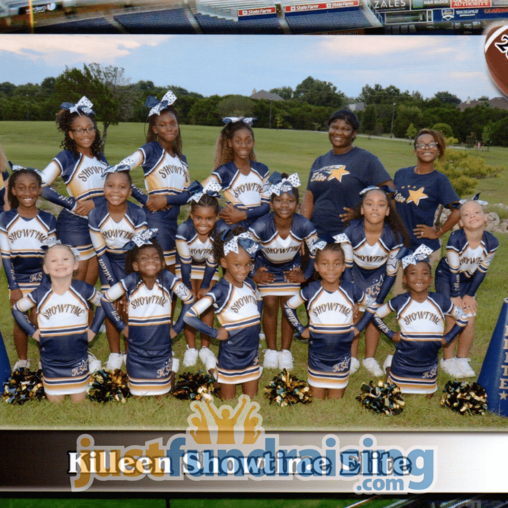 cheer group in turf