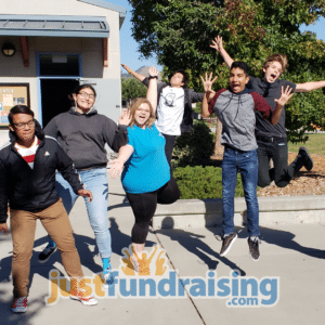 fundraising group jumping