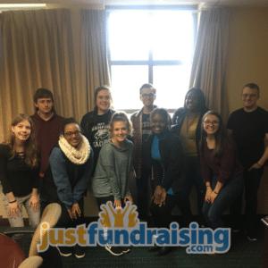 fundraising team in meeting room