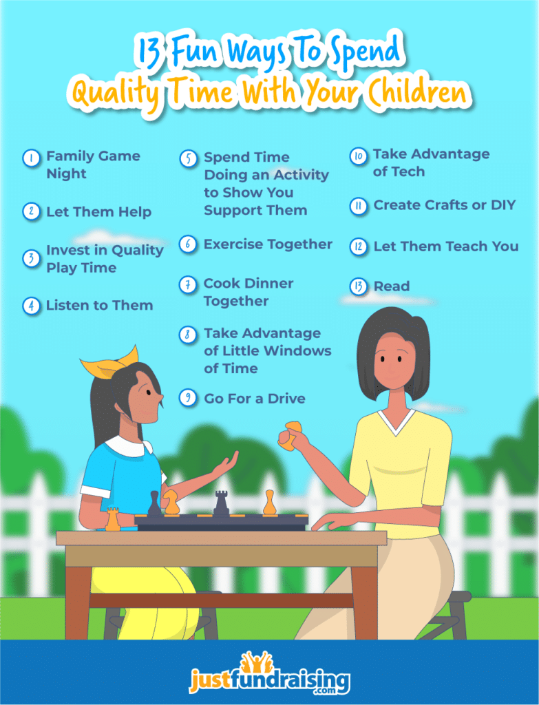 13 ways to spend quality time with your children infographic