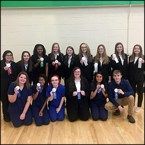 Halls High School's HOSA Competitive Events Team