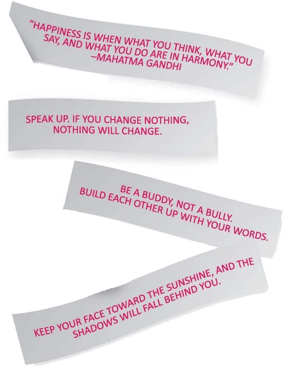 Fortune cookie notes