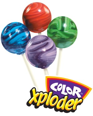 Color Xploder Gourmet Lollipops
