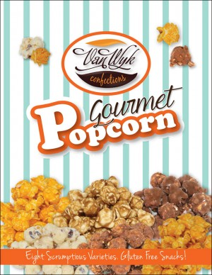 Gourmet Popcorn - With 3 Fudge Flavors