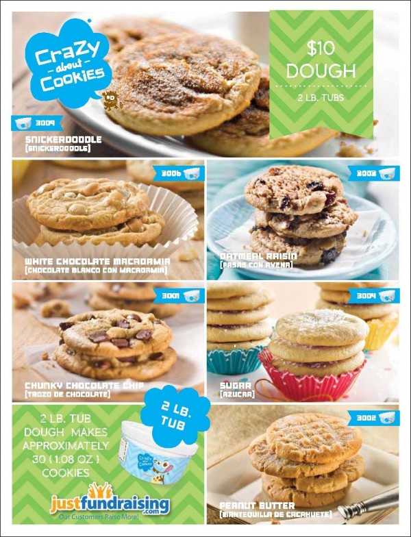 $10 Gourmet Cookie Dough Fundraising Program