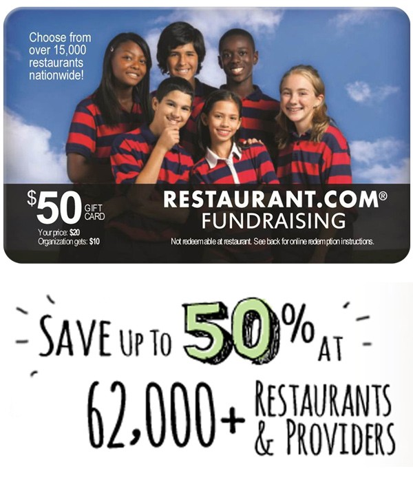 Restaurant.com Discount Giftcards for Fundraising and more!
