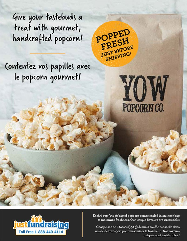 bon ajustement gros en ligne haut de gamme véritable YOW Popcorn Fundraiser - Canada - Sell For Only $10 Each!