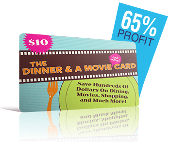 dinner & a movie card
