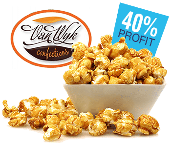 caramel popcorn in bowl
