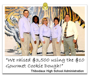high school administration team after successful fundraiser